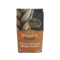 Wrights Wholemeal Bread Flour- 1 x 1.5kg bag