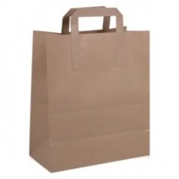 Brown Paper Handled Bags - 250 ( 175x270x215mm )