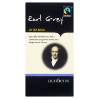 Lichfields Fairtrade Earl Grey - 20 Tea Bags 40g