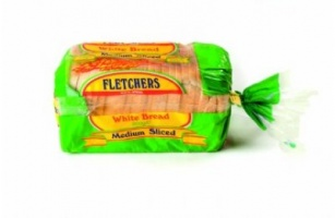 Fletchers Medium Sliced White Sandwich Bread (Frozen) - 800g