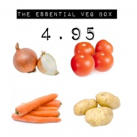 Simple Essentials Box - Sack of 2 kg Approx Potatoes, Bag of Onions, Carrots and Tomatoes
