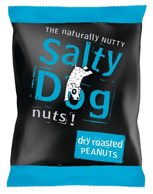 Salty Dog Dry Roasted Peanuts - 24 x 45g