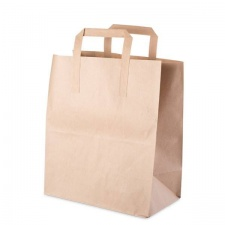 Brown Handled Paper Bags - 100 (180x80x220mm)