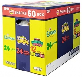 Walkers Snack Box (Quavers, Baked Wotsits, Mega Monster Munch) - Case of 60