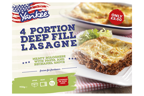 Deep Filled Lasagne - 4 x Portions