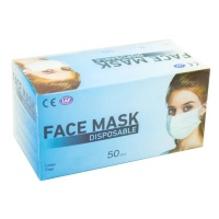 Disposable 3ply Face Masks - Box of 50