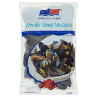 Cooked Whole Shell Mussels - 1kg