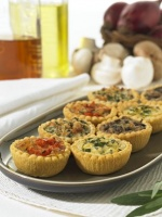 Mini Vegetarian Quiches - 12 x 3