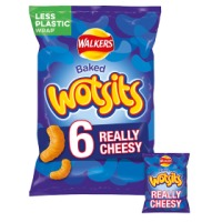 Walkers Wotsits Really Cheesy Snacks - 72 x 16.5g bags