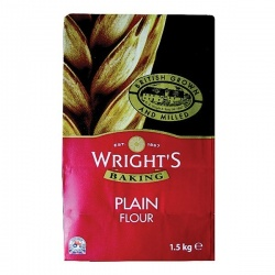 Wrights Plain Flour - 1.5kg bag
