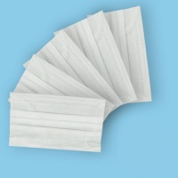 Disposable 3ply Face Masks,  3 folded disposable face covering with ear loops - Pack of 5