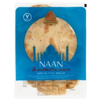 Large Plain Naan Breads - 2 pack