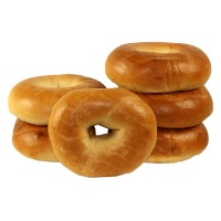 Large Fully Baked Plain Bagels - Bag of 6