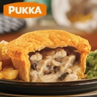 Pukka Wrapped Cooked Chicken & Mushroom Pie - Case x 6