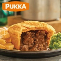 Pukka Wrapped Cooked Steak & Kidney Pie - Case x 6