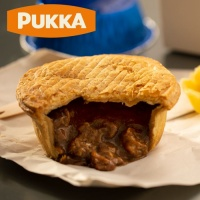 Pukka Indivually Wrapped Fully Cooked Steak Pie - Case x 6