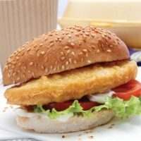 Battered Halal Chicken Burgers - 8 x 85gm