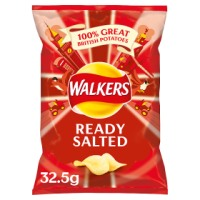 Walkers Ready Salted Crips - 32 x 32.5gm
